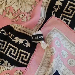 Versace Print silk scarf